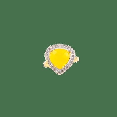 The Yellow Beryl Diamond ring