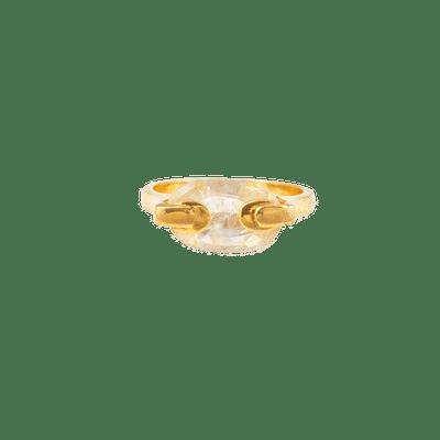 Yellow Sapphire Touching ring