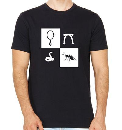 Kannadiganagiruve Black Colour Round Neck Kannada T-shirt
