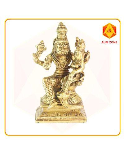 Lakshmi Narasimha in Brass