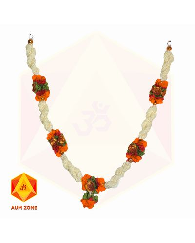 Bead Garland With Orange Flower