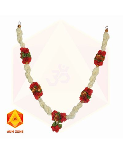 Bead Garland With Red Flower
