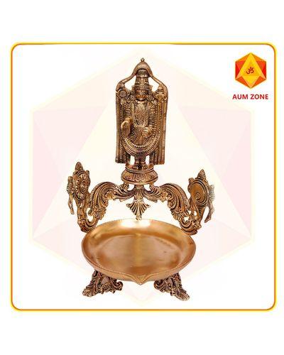 Balaji with Diya Stand