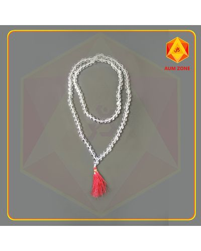 Natural Sphatik Mala A 8 mm (108 + 1 Beads)
