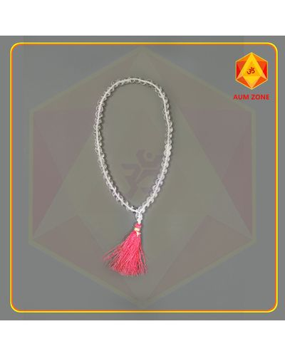 Natural Sphatik Mala A 10 mm (54 + 1 Beads)
