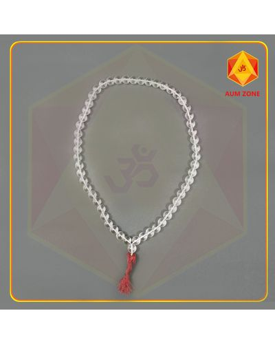 Natural Sphatik Mala A 12 mm (54 + 1 Beads)