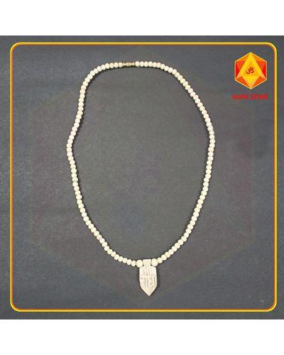 Tulsi Chain Round Bead Sri Radha Pendant