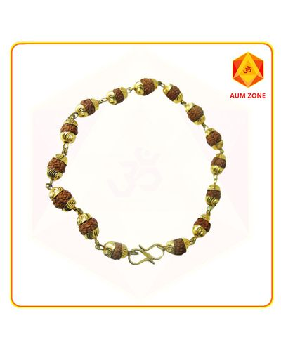Rudraksha Bracelet With Gold Plated Capping