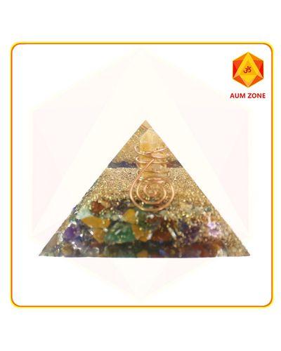 Chakra Orgone Pyramid with crystal point