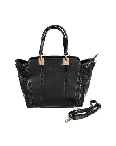 Croc Black leather Bag