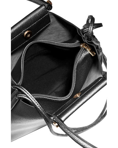 Gold Buttoned Noir Tote Bag