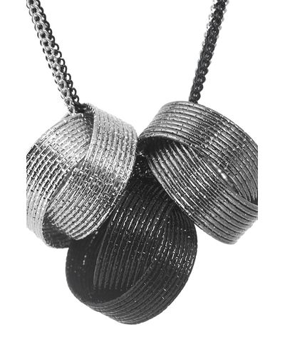 Black And White Rings Necklace