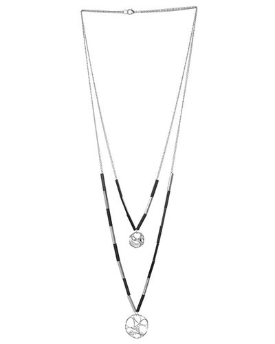 Trapped Diamond Necklace