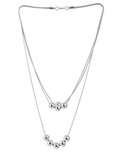 Popella Silver Pearl Necklace