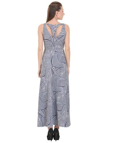 Dot Print Maxi Dress