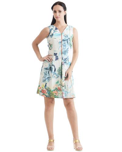 Azure Print Dress