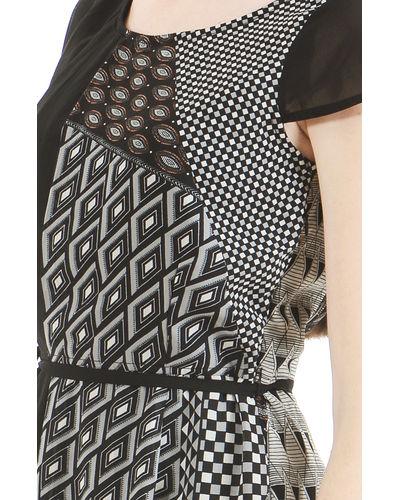 Monochrome Geo Print Dress