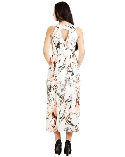 Ivory Printed Dress