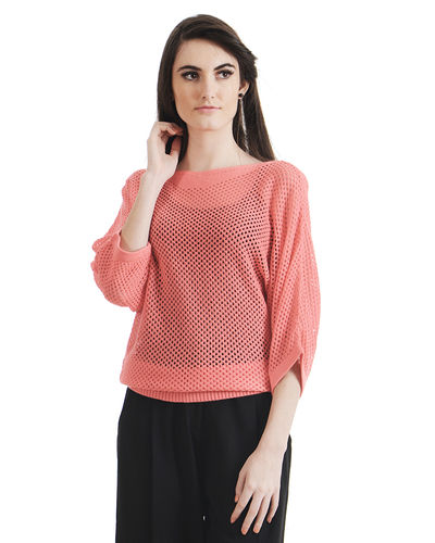 Coral Batwing Sweater