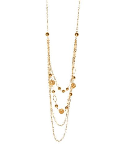 Multi-Stranded Gold Necklace