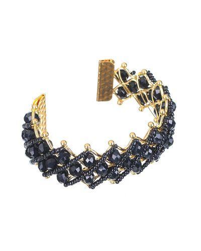 Black Beads Bangle