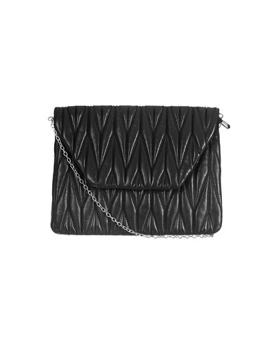 Black Polyurethane (Pu) Sling Bag