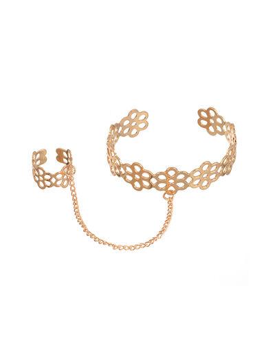 Gold Toned Ring Bracelet