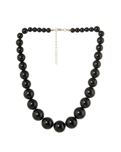 Black Asymmetric Necklace