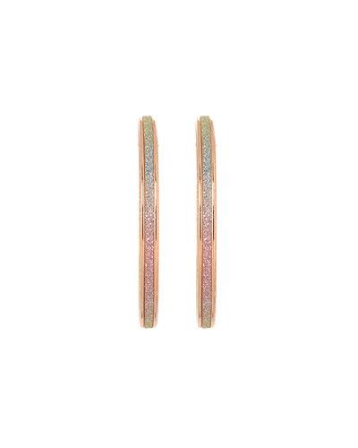 Shimmery Cooper Hoop Earrings