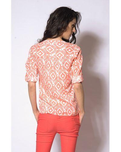 Traditional Ikat Print Blouse