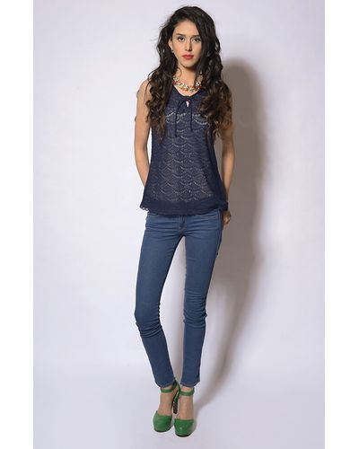 Casual Front Knot Blouse