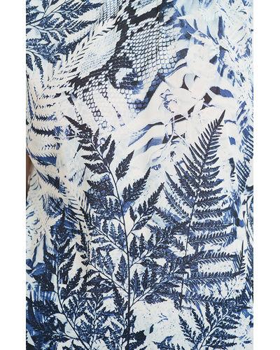 Blue Canvas Print Top