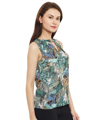 Abstract Green Top