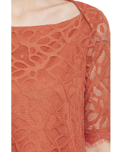 Rusty Lace Top