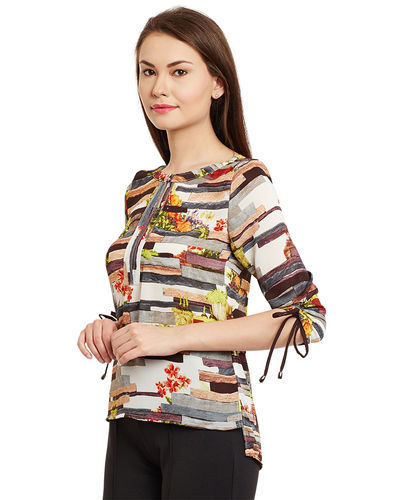 Graphical Stripes Top