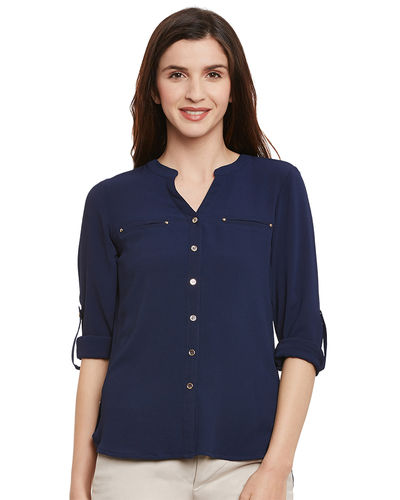 Prussian Buttoned Casual Top