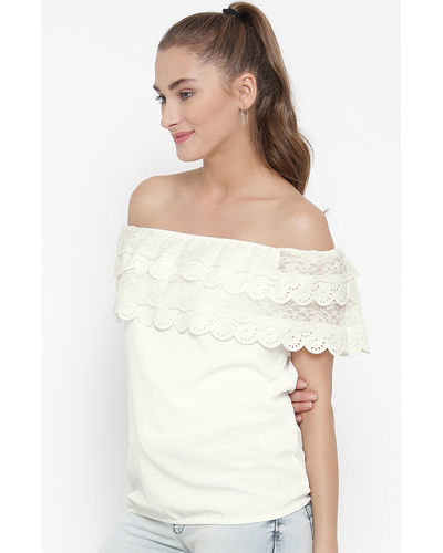 Ivory Lace Off-the-Shoulder Top