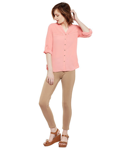 Blush Pink Front Buttoned Top