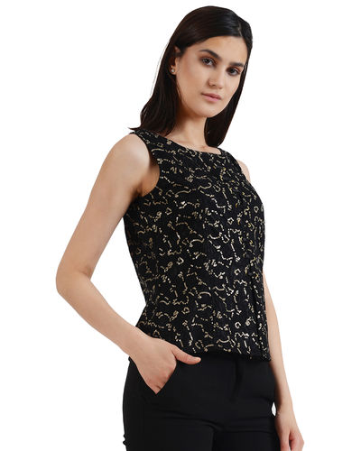 Noir Gold Sequin Top