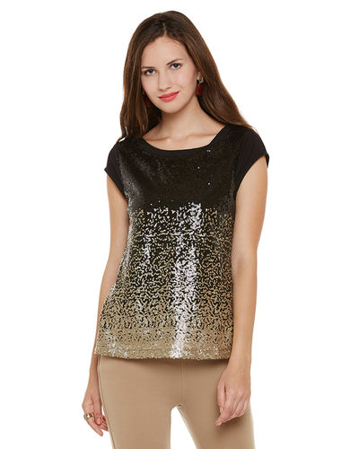 Sequin Gold Sprinkled Top