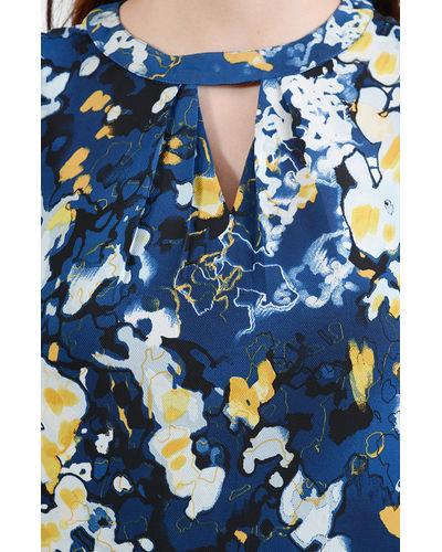 True Blue Canvas Print Top