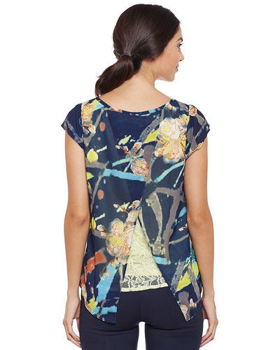 Berry Blue Canvas Print Top