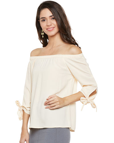 Ivory Off-the-Shoulder Top