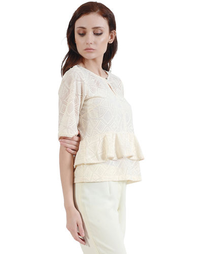 Ivory Double Layer Top