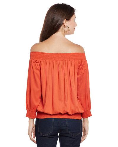 Autumn Blaze Off-the-Shoulder Top