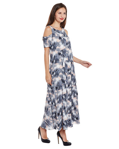 Sapphire Cold Shoulder Maxi Dress