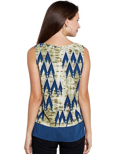 Olivine & Blue Aztec Print Top