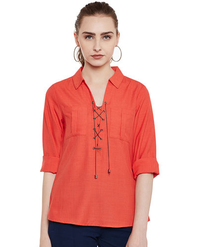 Front Chained Fiery Top