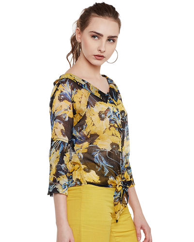 Sunshine Canvas Abstract Top