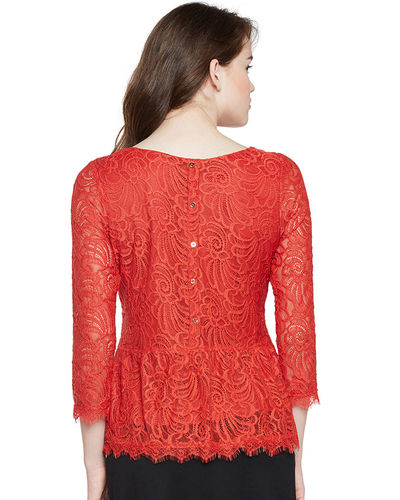 Firestone Back Buttoned Lace Top